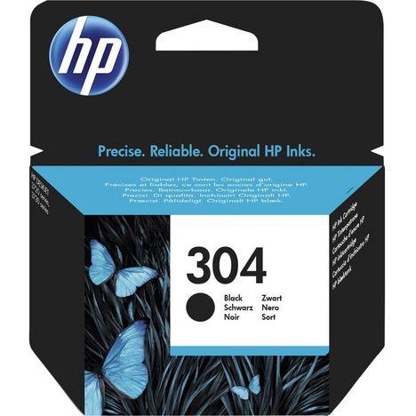 HP Cartouche d'Encre HP 304 Noire Authentique (N9K06AE)
