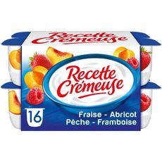 Danone DANONE Yaourt aux fruits abricot-pêche-fraise-framboise