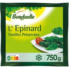 BONDUELLE L'épinard feuilles préservées 3-4 portions 750g