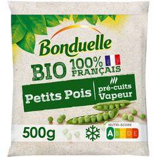BONDUELLE Petits pois bio en sachet bio 3 portions 500g