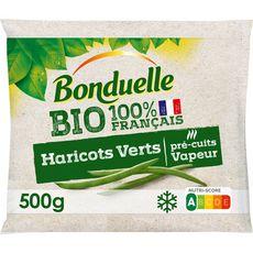 BONDUELLE Haricots verts bio en sachet bio 3 portions 500g