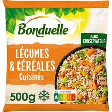 BONDUELLE Légumes et céréales cuisinés 3 portions 500g