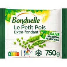 BONDUELLE Petits pois extra-fondant sans résidu de pesticides 3-4 portions 750g