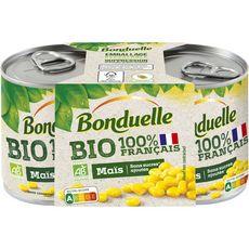 BONDUELLE Maïs bio sans sucres ajoutés 2x140g