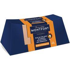 MAISON MONTFORT Bloc de foie gras de canard 30% de morceaux champagne poivre 7-8 portions 260g
