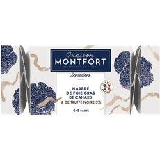 MAISON MONTFORT Maison Montfort Foie gras de canard entier truffé 3% 6 à 8 portions 250g 6 à 8 portions 250g