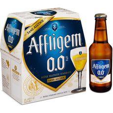 AFFLIGEM Bière blonde belge d'abbaye sans alcool bouteilles 6x25cl