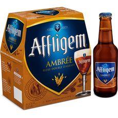 AFFLIGEM Bière double d'abbaye cuvée ambrée 6,7% bouteilles 6x25cl