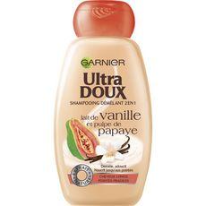 ULTRA DOUX Shampooing démêlant vanille & papaye cheveux longs, pointes fragiles 250ml