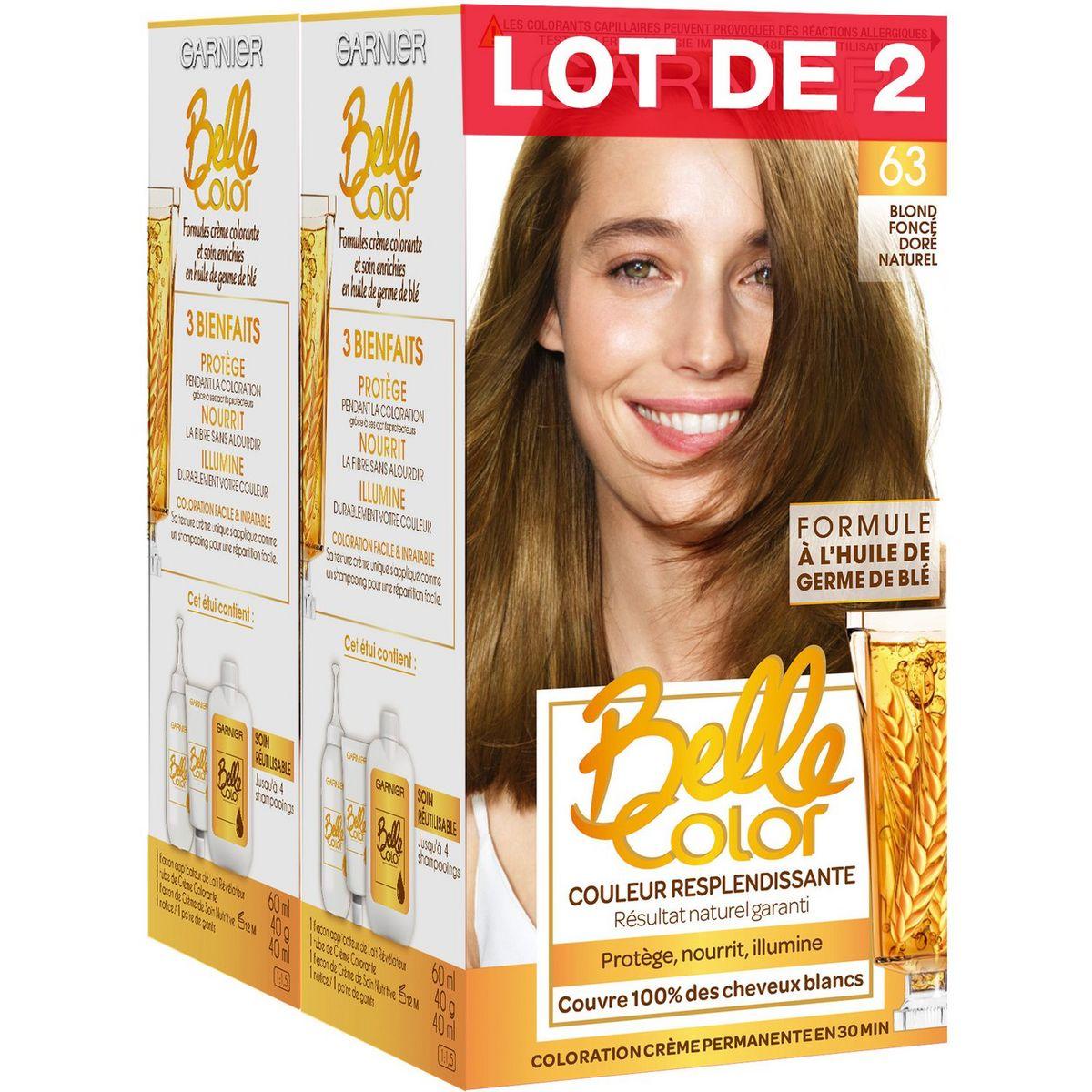 Garnier Belle Color coloration permanente 63 blond foncé doré naturel x2