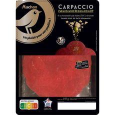 AUCHAN GOURMET Carpaccio au Parmigiano Raggiano AOP marinade huile d'olive citronnée 197g