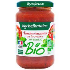 ROCHEFONTAINE Tomates concassées de provence au basilic bio 350g