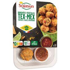SOJASUN Bouchées végétales tex-mex tomate, poivron, maïs, sauce salsa 10 pièces 175g