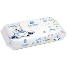 BIOLANE Lingettes visage et mains 100% biodégradables pour bébé 64 lingettes