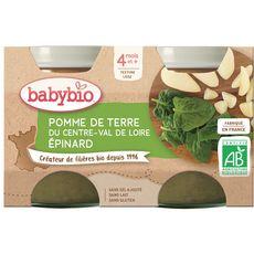 Babybio BABYBIO Petit pot pomme de terre épinard bio dès 4 mois