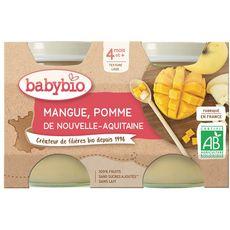 Babybio BABYBIO Petit pot dessert pomme mangue dès 4 mois