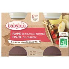 Babybio BABYBIO Petit pot dessert pomme fraise bio dès 6 mois
