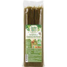 JARDIN BIO ETIC Spaghetti au quinoa, persil et ail fabriqué en France 500g