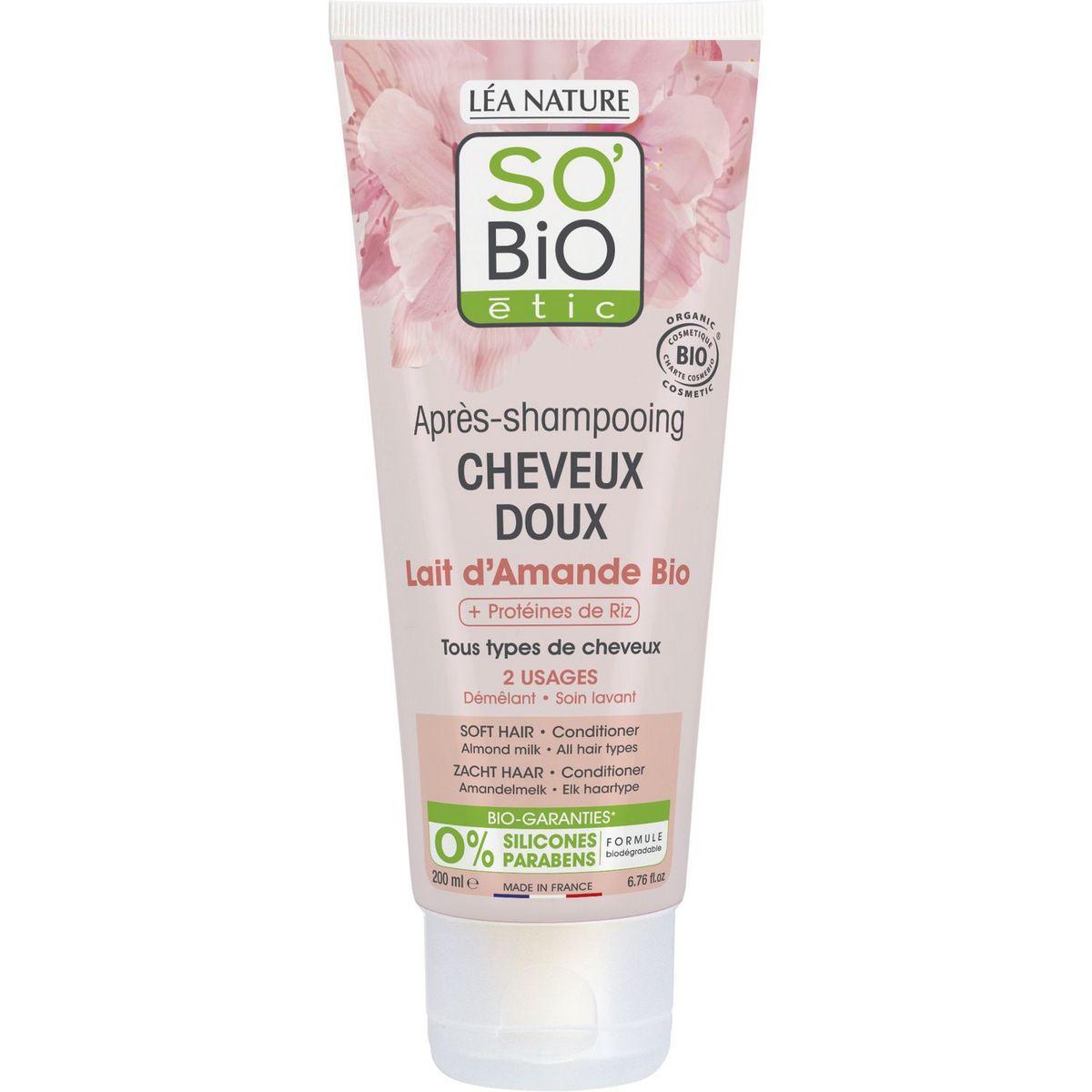 So Bio Etic Après-shampooing bio lait d'amande tous types de cheveux 200ml