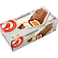 AUCHAN Auchan Bûche glacée aux trois chocolats 534g 8-10 parts 534g