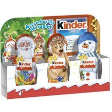 KINDER Kinder Mini moulage au chocolat décoration sapin 3x15g 3x15g