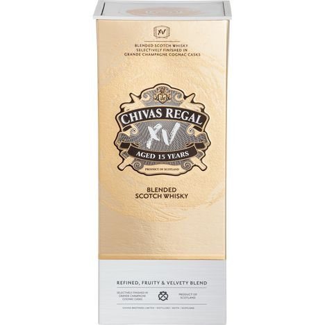 CHIVAS Scotch whisky blended écossais 15 ans 40%