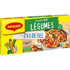 MAGGI Maggi tablettes bouillon kub légumes -25 de sel x12 120g x12 120g