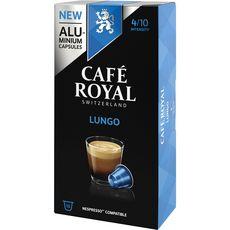 CAFE ROYAL Capsules de café lungo compatibles Nespresso 10 dosettes 52g