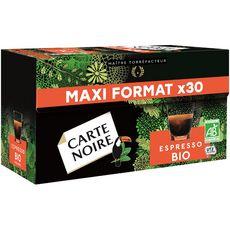CARTE NOIRE Carte Noire Café bio expresso en capsule compatible Nespresso 240g 30 capsules 240g