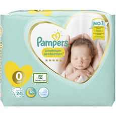PAMPERS Premium protection couches taille 0 (-3kg) 24 couches