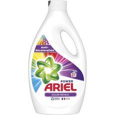 ARIEL Lessive liquide power color anti-décoloration 31 lavages 1,705l