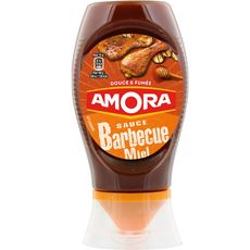 AMORA Sauce barbecue miel douce et fumée en squeeze 282g