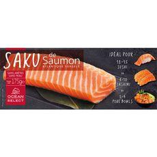 Saku de saumon de l'Atlantique sans arêtes sans peau 175g 175g