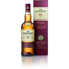 THE GLENLIVET Scotch whisky single malt écossais 40% 15 ans avec étui 70cl