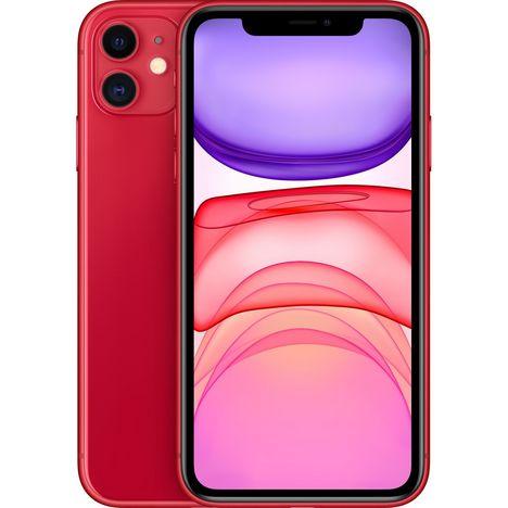 APPLE iPhone 11 (PRODUCT)RED 64 Go 6.1 pouces 4G Rouge NanoSim et eSim