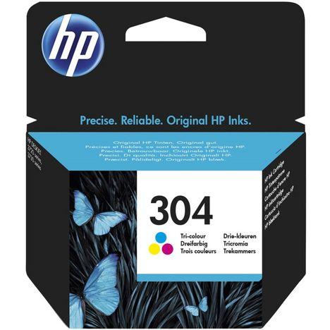 HP Cartouche d'Encre HP 304 Trois Couleurs Authentique (N9K05AE)