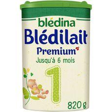 BLEDINA Blédilait Premium lait 1er âge en poudre dès la naissance 820g