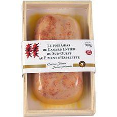Foie gras de canard entier au piment d'Espelette 200g