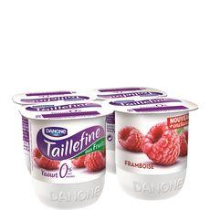 TAILLEFINE Taillefine 0% yaourt allégé aux fruits framboise  4x125g