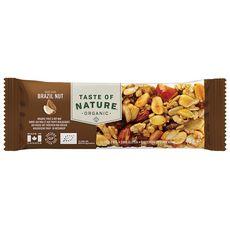 TASTE OF NATURE Barre céréales chocolat et cacahuètes bio 40g