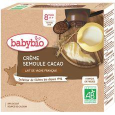 Babybio BABYBIO Gourde dessert crème semoule cacao bio dès 8 mois