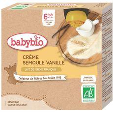 Babybio BABYBIO Gourde dessert crème semoule vanille bio dès 6 mois