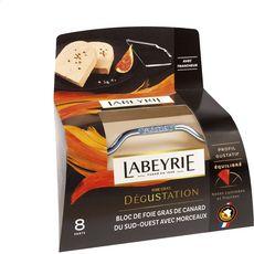 LABEYRIE Bloc de foie gras de canard avec morceaux du Sud-Ouest avec lyre 8 parts 300g