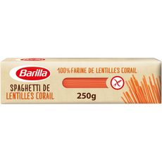 BARILLA Spaghetti 100% farine de lentilles corail sans gluten 250g