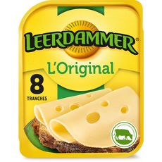 LEERDAMMER L'Original Fromage nature en tranche 8 tranches 200g
