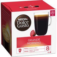 DOLCE GUSTO Capsules de café grande morning 16 capsules 160g