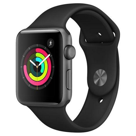 APPLE Apple Watch 42MM Alu Noir Series 3 - Montre connectée - Reconditionnée Grade A - SPL