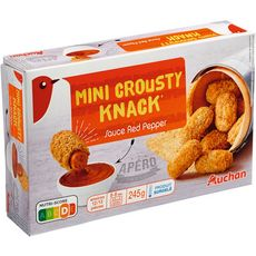 AUCHAN Mini crousty knacks sauce red pepper 245g
