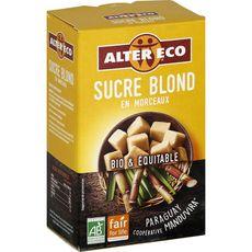 Alter Eco ALTER ECO Alter Eco Sucre blond bio et équitable en morceaux 500g