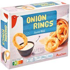 AUCHAN Onion rings sauce aioli 250g